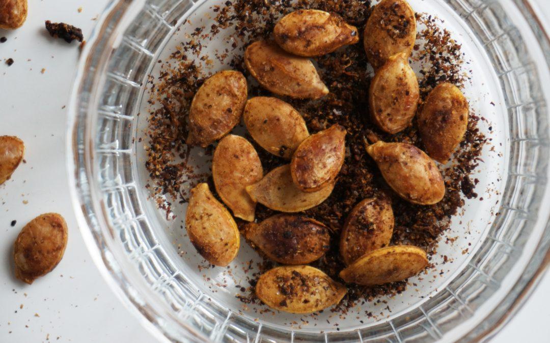 Uno snack salutare: semi di zucca croccanti